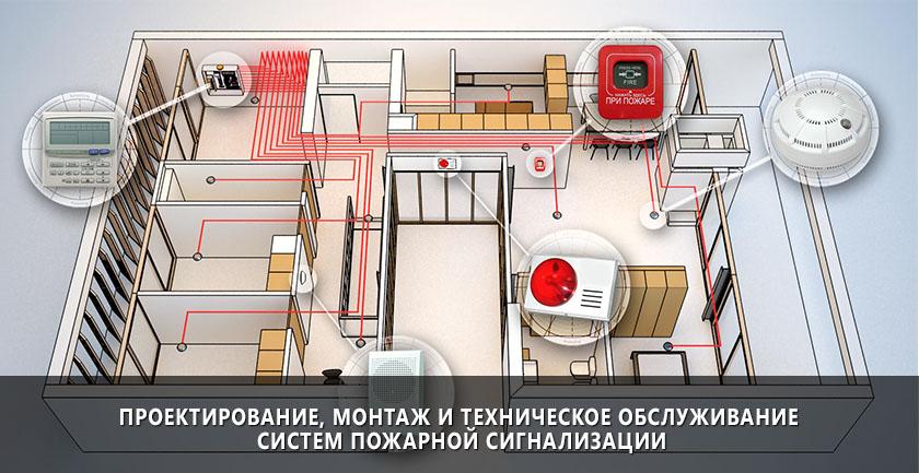 Проектирование, монтаж и техническое обслуживание систем пожарной сигнализации