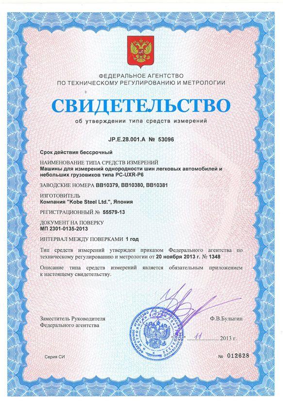 метрологический сертификат